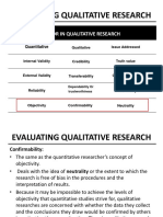 Evaluating Qualitative Research
