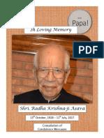 In Loving Memory -- Radha Krishna Ji Asava
