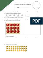 Evaluación de Matemática i Trimestre