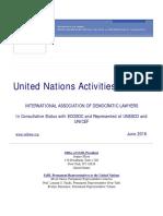 IADL United Nations Activities Bulletin - June 2016