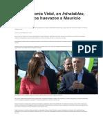 María Eugenia Vidal se refirió a la agresión a Macri en La Pampa
