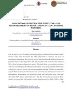 Association of Obstructive Sleep Apnea and Blood Pressure on Hypertensive Patient in Depok Indonesia