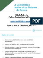 La Contabilidad Administrativa y Los Sistemas de Costos