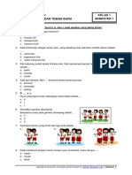 Soal Tema 1. Subtema 1 Kelas 1