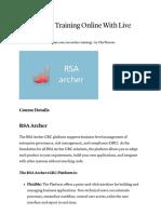 RSA Archer Training