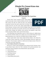 Sejarah Filsafat Pra Yunani Kuno Dan Yunani Kuno