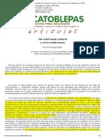 David Alvargonzález, Del Relativismo Cultural y Otros Relativismos, El Catoblepas 8_13, 2002