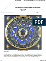 Some Common Fundamental Criterion in Mathematics and Astrology