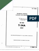 T-34 Plane Parts Manual