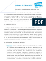 Documento Diagnóstico CEHI 2009 sobre Reforma Universitaria