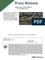 PR 286 2017 Races of the Weekend 13 15 October 2017