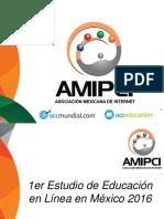Estudio de Educacion en Linea 2016