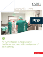 Air humidification in hospitals and healthcare structures with the objective of saving energy