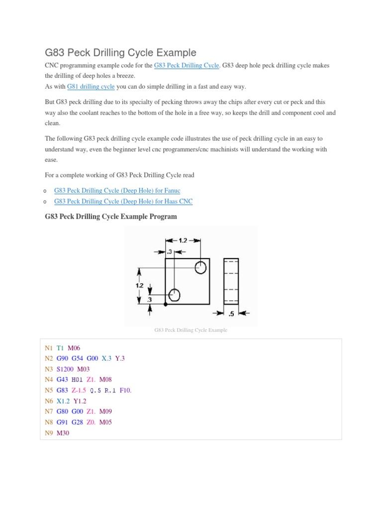 programe fanuc docx | Numerical Control | Drilling