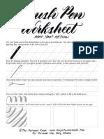 Free Brush Pen Worksheet Neat Slant