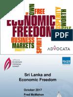 Economic Freedom in Sri Lanka by Fred McMahon