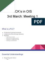 tck plc meetings