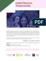 WAW - Zone(s) d'Amours Temporaire(s) - Dossier de Presse