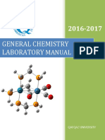 General Chemistry Lab Manual