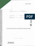 Calculation of Elastic Plastic Flow