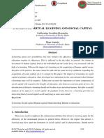E-learning, Virtual Learning and Social Capital