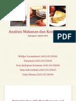 Analisis Makanan Dan Kontaminan Kelompok 1 Fix