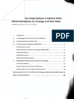 Internal Report on the Role of the United Nations in Rakhine State