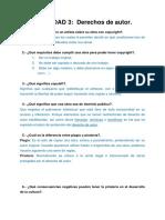 ACTIVIDAD 3- Derechos de Autor