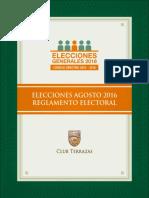 Reglamento Electoral 2016 Fbo2pun
