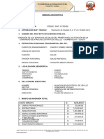 Memoria Descriptiva Ampliacion de Plazo II AYACCASI