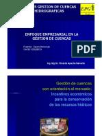 3. Enfoque Empresarial en La Gestión de Cuencas