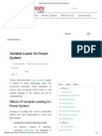 Variable Loads on Power System _ Electricaleasy