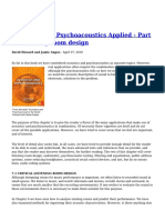 Acoustics and Psychoacoustics Applied Part 1 Listening Room Design