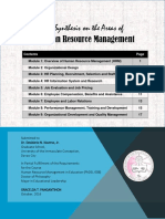 Human Resource Management Synthesis