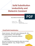 Fluid & Solid Substitution for Conductvity And