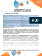 Syllabus Del Curso Fundamentos en Gestion Integral
