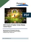 Ponemon2013CyberCrimeReport Global 1013 Final Report