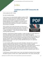 Novo Regime Disciplinar Para USP é Assunto de Interesse de Todos