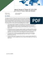 IoT Worldwide Regional 2014 2020 Forecast