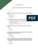 Cuestionario GBI