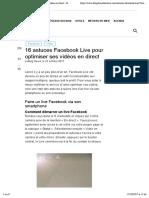 16 Astuces FB Live