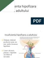 3. Insuficienta Hipofizara a Adultului, ICSR Primara, Diabet Insipid