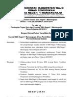 SK. Pembagian Tugas SMAN 1 Maniangpajo Tahun Pelajaran 2010/2011