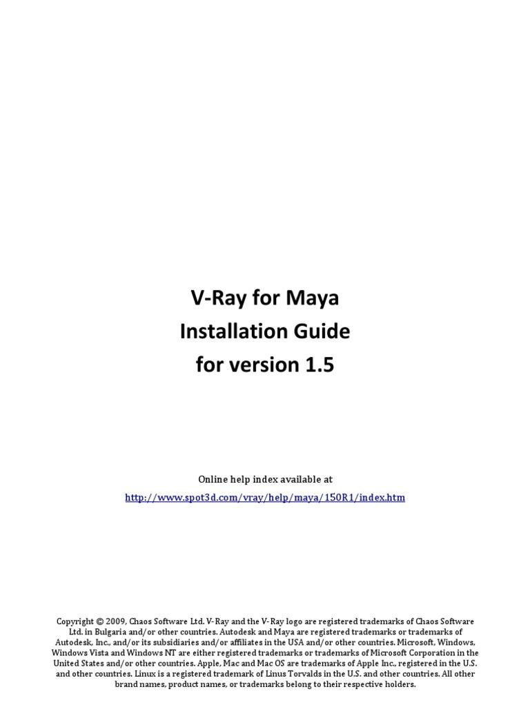Install Vrayformaya | Autodesk Maya | Microsoft Windows