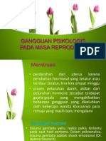 8. Gangguan psikologis pada masa menstruasi