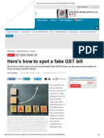 GST - How to Spot a Fake Bill