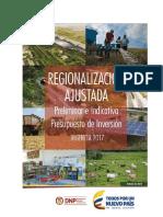regionalización ajustada - 2017