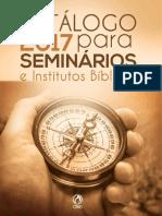Catalogo P_ Seminaristas e Intitutos Biblicos 2017
