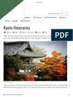 Kyoto Itineraries 1