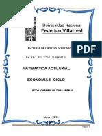 Guia de Matematica Actuarial 2014